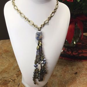 Vintage Royal Blue Stone Necklace
